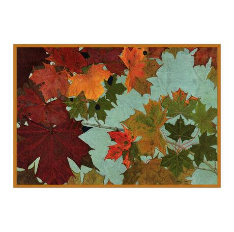 Autumn Leaves Thanksgiving Business Hallmark Card