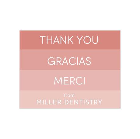 Thank You, Gracias, Merci Design Your Own Business Hallmark Note Card