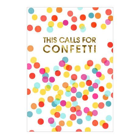 Colorful Confetti Congrats Business Hallmark Card