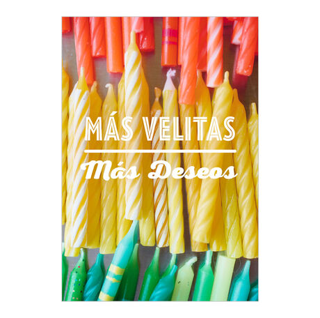 Birthday Candles Spanish Business Hallmark Card
