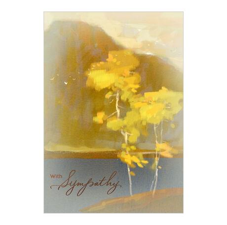 Painterly Scene Sympathy Business Hallmark Card