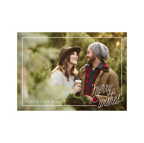 Simply Merry Wishes Hallmark Holiday Full Photo Card