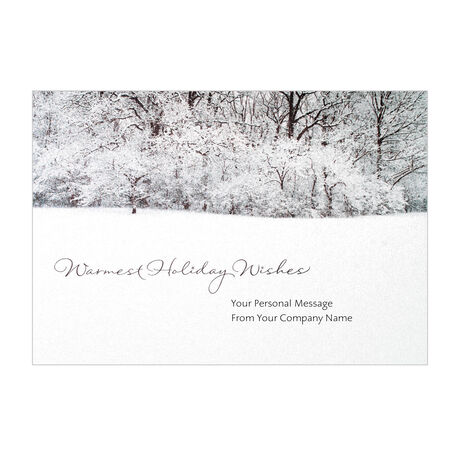 Shimmering Winter Scene Personalized Cover Business Card
