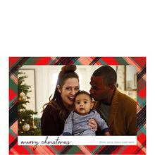 Festive Plaid Christmas Photo Card