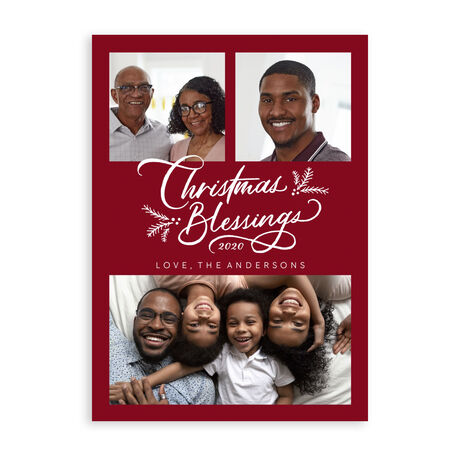 Multi Photo Christmas Card (Christmas Blessings) for Business