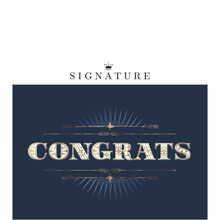 Bold Congratulations Business Hallmark Card