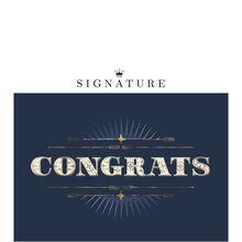 Bold Congratulations Business Hallmark Card
