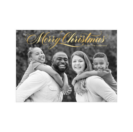 Brilliant Merry Christmas Business Full Photo Card