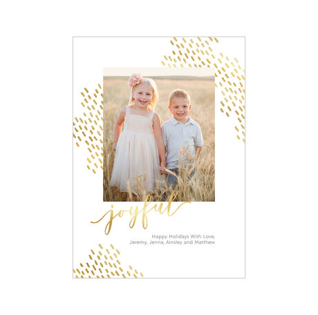 Joyful and Shining Hallmark Holiday Photo Card