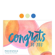 Bubbly Congrats Design Your Own Business Hallmark Card