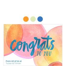 Bubbly Congrats Design Your Own Business Hallmark Card