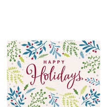 Berry Happy Holidays Business Hallmark Card