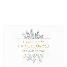 Happy Holidays from Us Business Hallmark Card