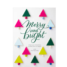 Merry and Bright Christmas Trees Design Your Own Hallmark Card