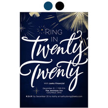 Ring in 2020 Design Your Own Business Hallmark New Year Invitation