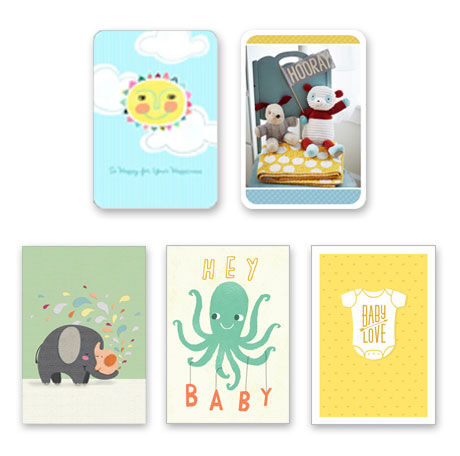 Assorted New Baby Cards for Business, 25 Pack