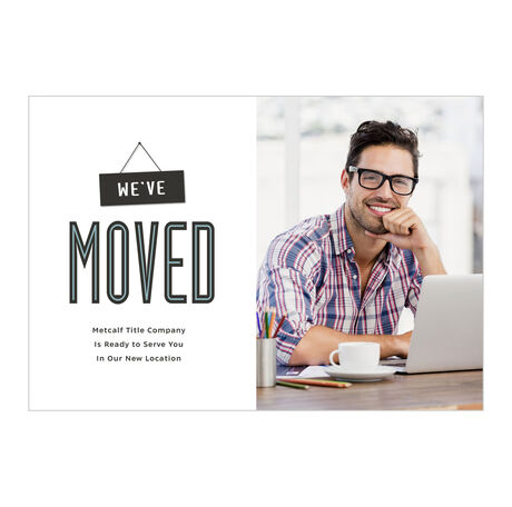 We've Moved Offices Announcement Hallmark Photo Card