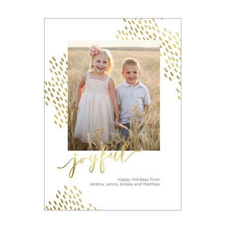 Joyful and Shining Holiday Business Photo Card