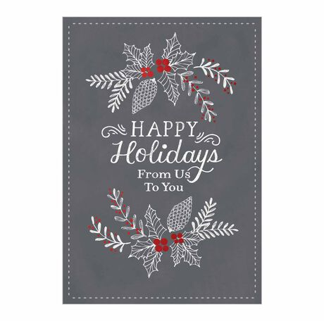 Holidays from Us Gray Business Hallmark Card