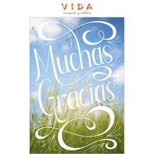 Blue Skies Thank You Spanish Business Hallmark Card
