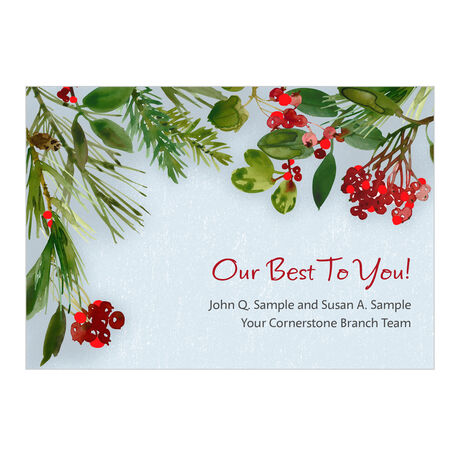 Holiday Best Custom Business Hallmark Card