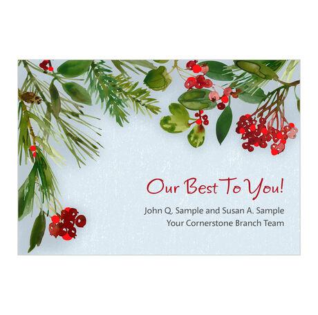 Holiday Best Custom Business Hallmark Card