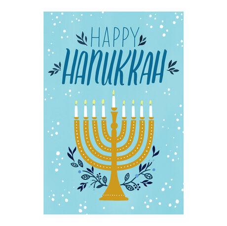 Hanukkah Card (Illustrated Menorah) for Business