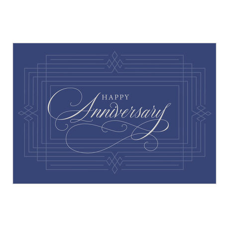 Silver and Blue Work Anniversary Hallmark Card