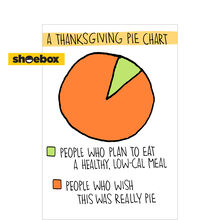 Thanksgiving Pie Chart Business Hallmark Card