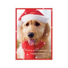 Dog in Holiday Hat Business Hallmark Card