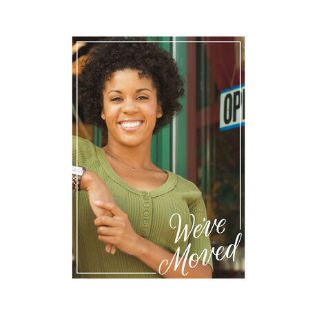 We've Moved Office Announcement Hallmark Full Photo Card