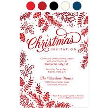 Christmas Pines Design Your Own Business Hallmark Invitation