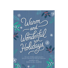 Wonderful Holidays Design Your Own Business Hallmark Card