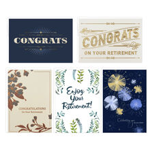 Assorted Retirement Cards, 25 Pack