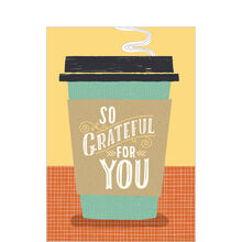 Appreciation Card (Coffee Cup & Grateful) for Business