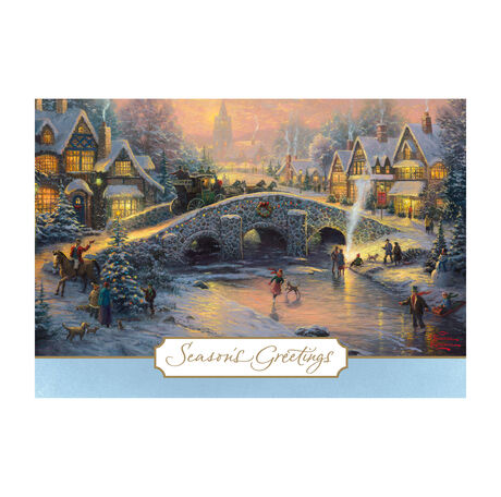 Thomas Kinkade Spirit Of Christmas Holiday Cards Hallmark Business