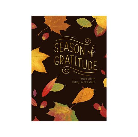 Customizable Thanksgiving Card (Maple Leaves Gratitude) for Business