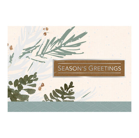 Artistic Evergreen Greetings