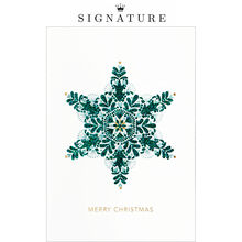Green Snowflake Christmas Business Hallmark Card