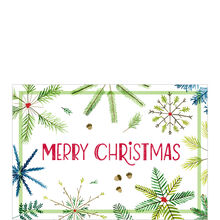 Pine Snowflakes Christmas Business Hallmark Card
