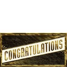 Classy Gold Congrats on Black Business Hallmark Card