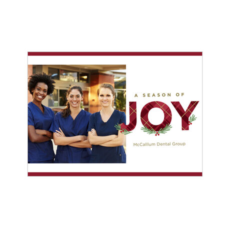 Season of Joy Holiday Business Hallmark Photo Card