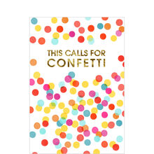 Colorful Confetti Congrats Business Hallmark Card