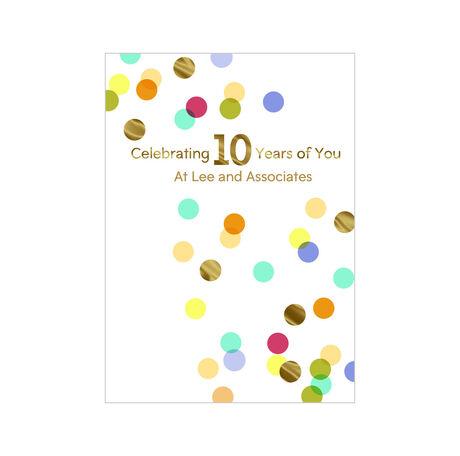 10th Work Anniversary Confetti Design Your Own Hallmark Card