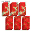 Assorted Happy New Year and Golden Koi Fish Lai See Red Envelopes, 48 Pack