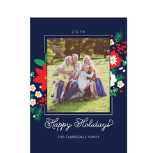 Poinsettias and Pine 2019 Hallmark Holiday Photo Card