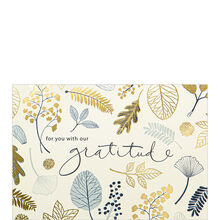 Gratitude Leaves Thanksgiving Business Hallmark Card
