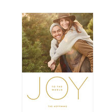 Joy to the World Modern Hallmark Holiday Photo Card