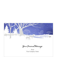 Silver & Blue Landscape Personalized Cover Hallmark Card