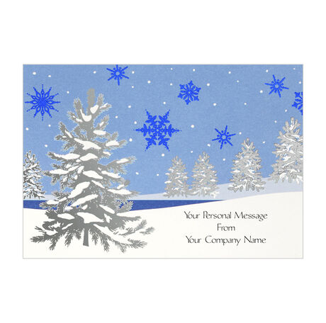Snowy holiday greeting cards hallmark business connections snowy holiday reheart Choice Image